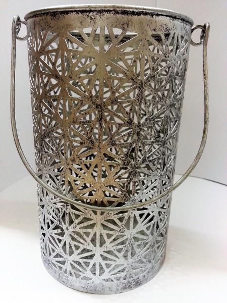 Silberlaterne L | ohne Glaseinsatz | handgemacht