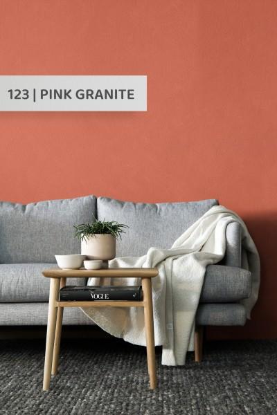 Volvox | Espressivo Lehmfarbe | Pink Granite 123