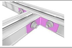 TwinBox Eckverbinder Aluminium 19 x 40 x 2 mm