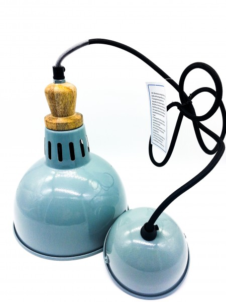 Lampe | Metall | ca. 16 cm Durchmesser | Vintage style | Textilkabel