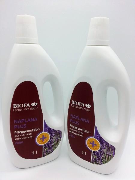 Biofa | NAPLANA Plus antirutsch Pflegeemulsion | 2086 | 1 Liter | Set 2 Stück
