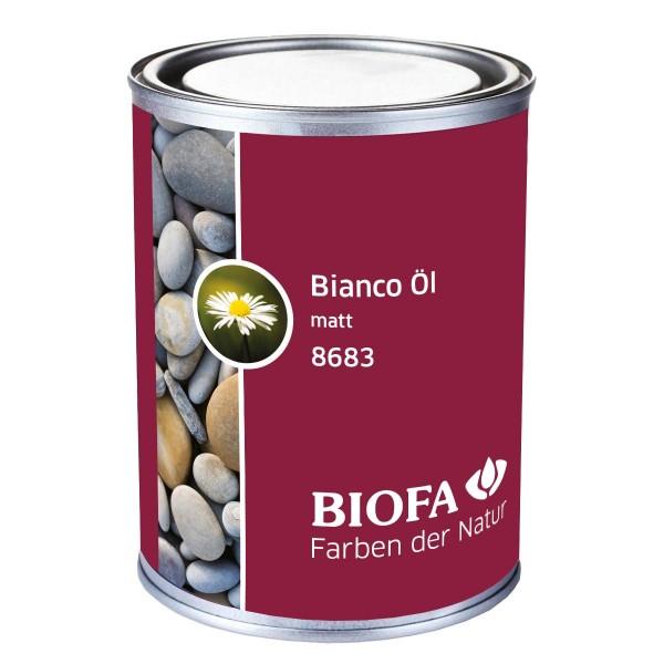 Biofa   Biona Bianco Öl matt   Hartöl hell   8683   Set mit 2 Ölsaugtüchern
