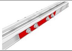 TwinBox Längsverbinder Aluminium 19 x 140 x 2,5 mm | Set mit 2 Stück